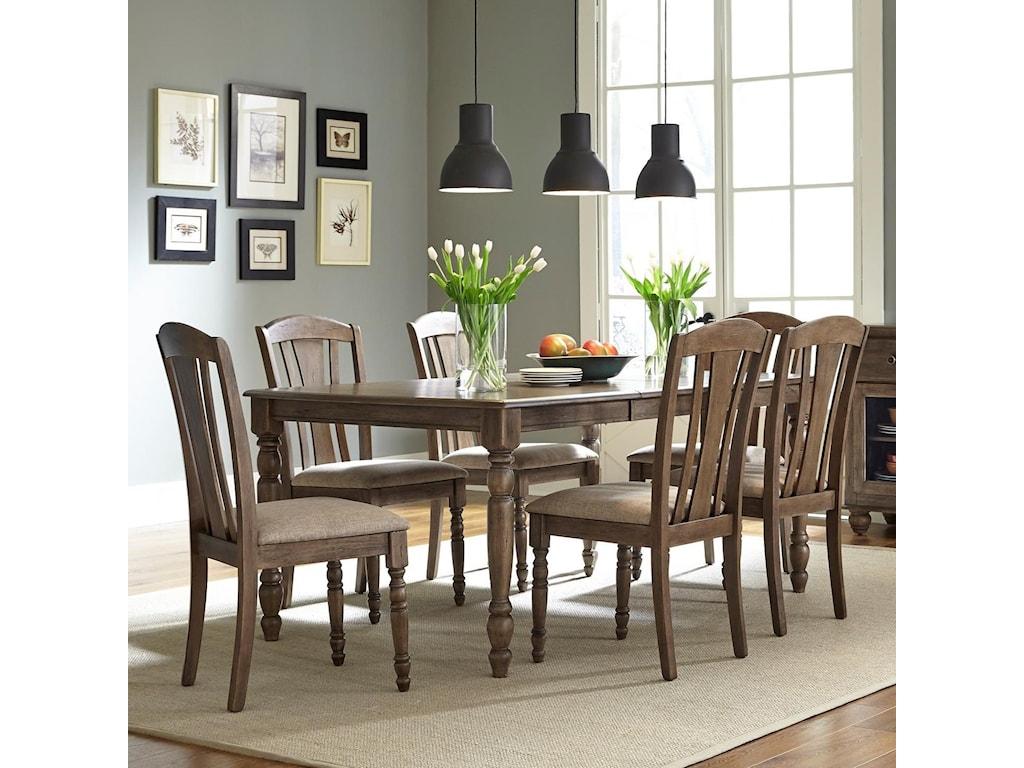 Liberty Furniture Candlewood7 Piece Rectangular Table Set