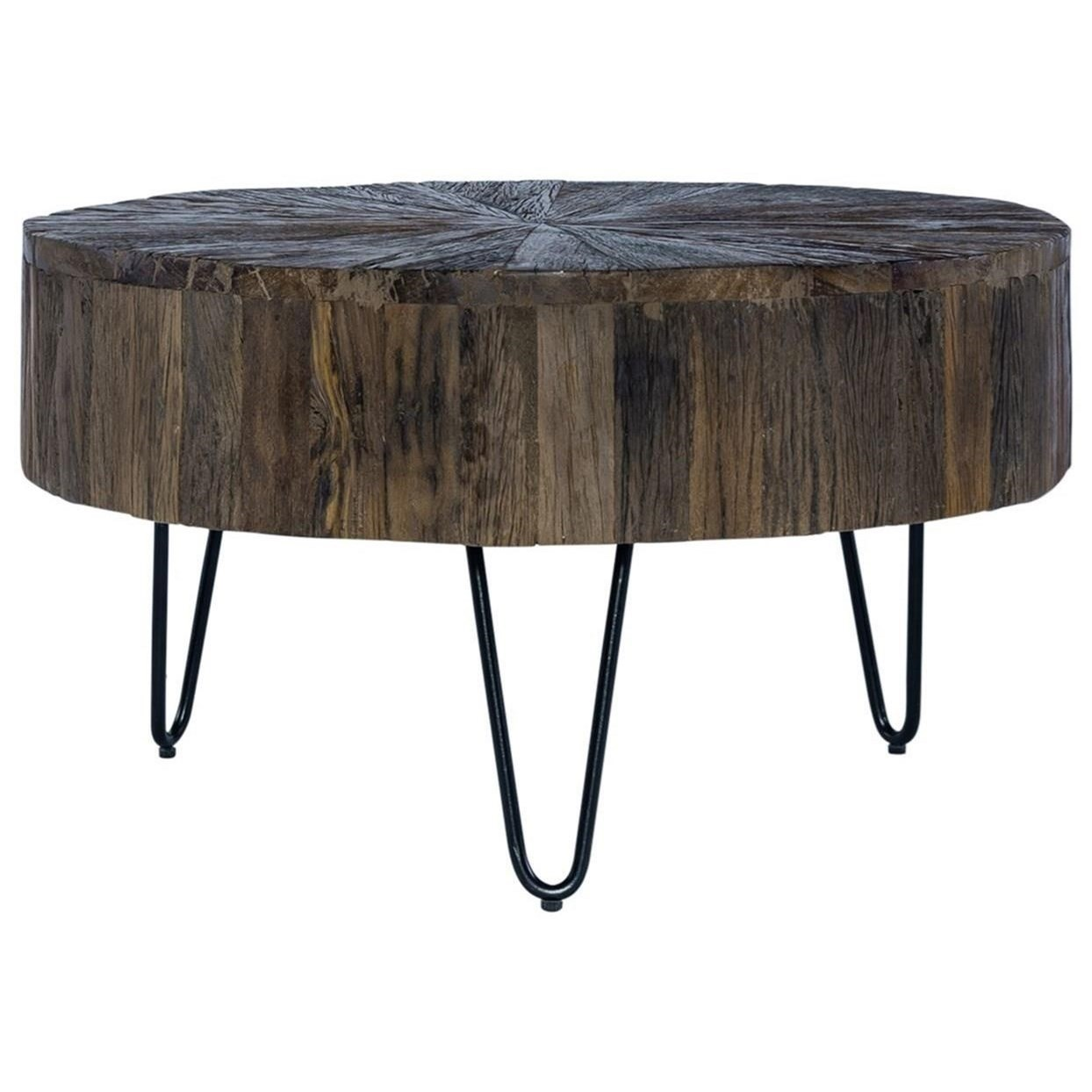 Contemporary Accent Cocktail Table with Hairpin Legs
