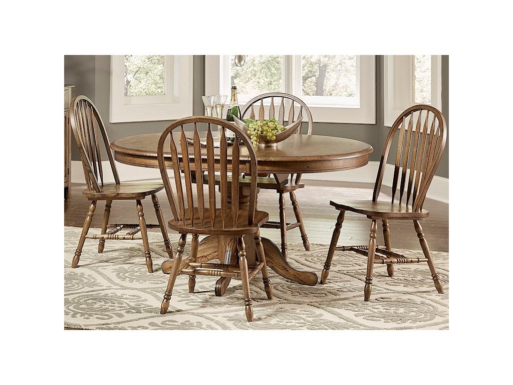 Liberty Furniture Carolina CrossingPedestal Table and Chair Set