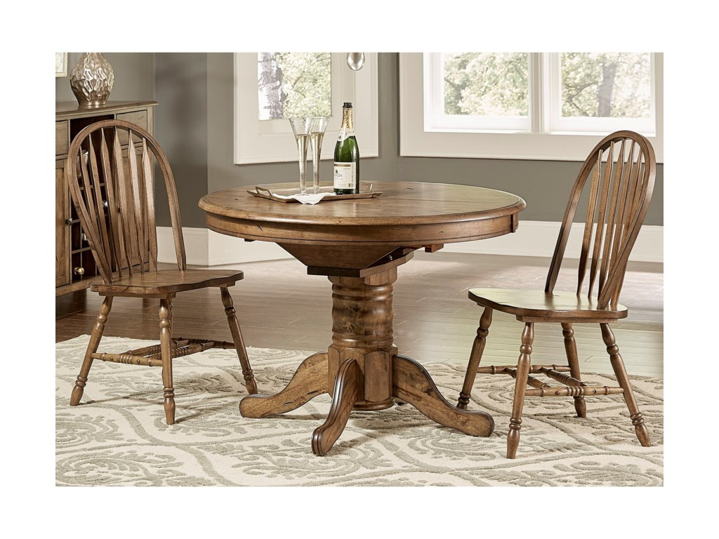 Liberty Furniture Carolina CrossingOval Pedestal Dining Table