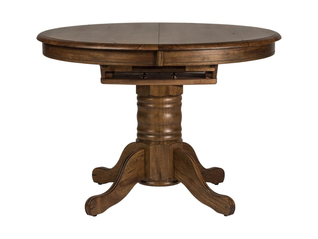 Liberty Furniture Carolina CrossingOval Pedestal Dining Table