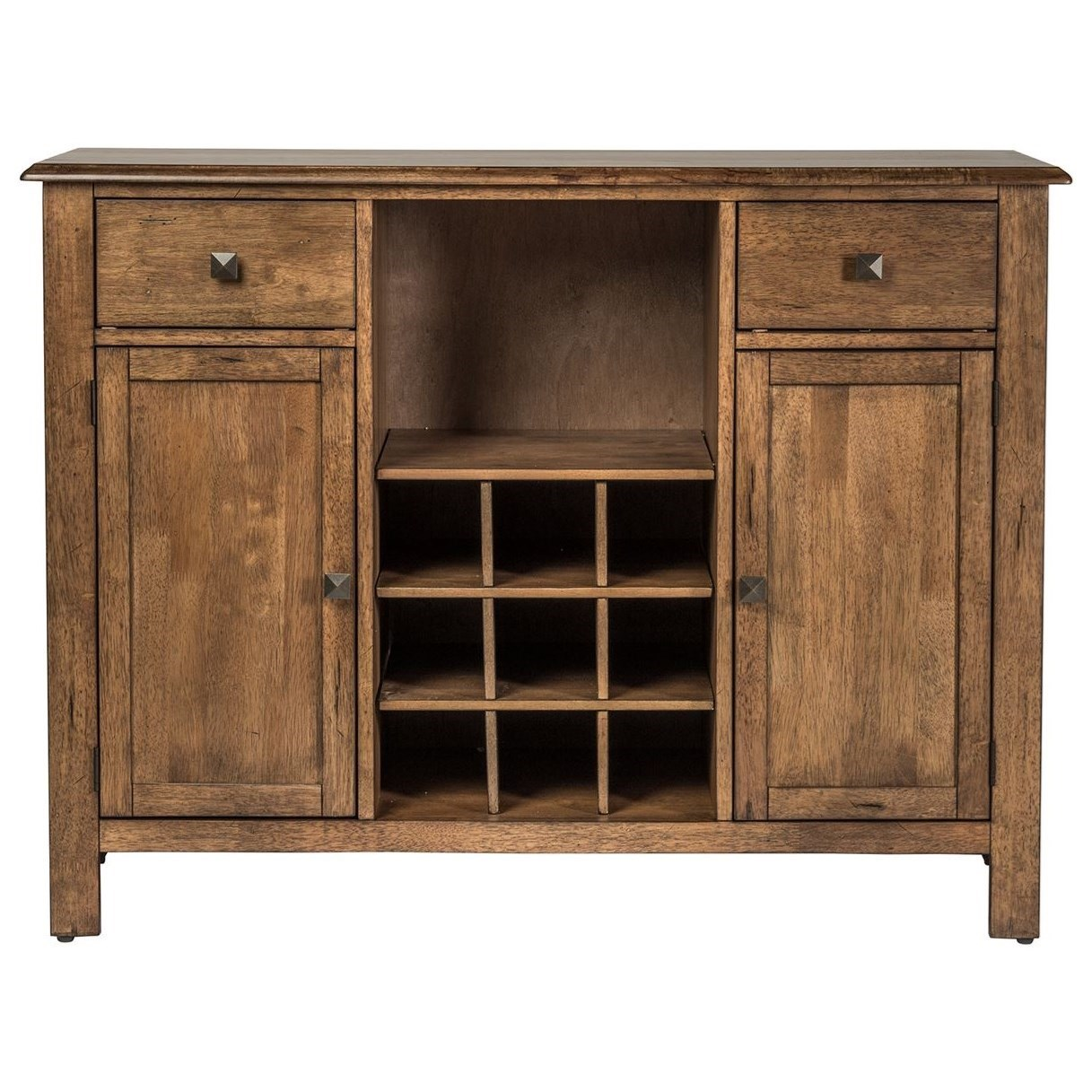 Transitional Dining Server with Removable Wine Bottle Storage