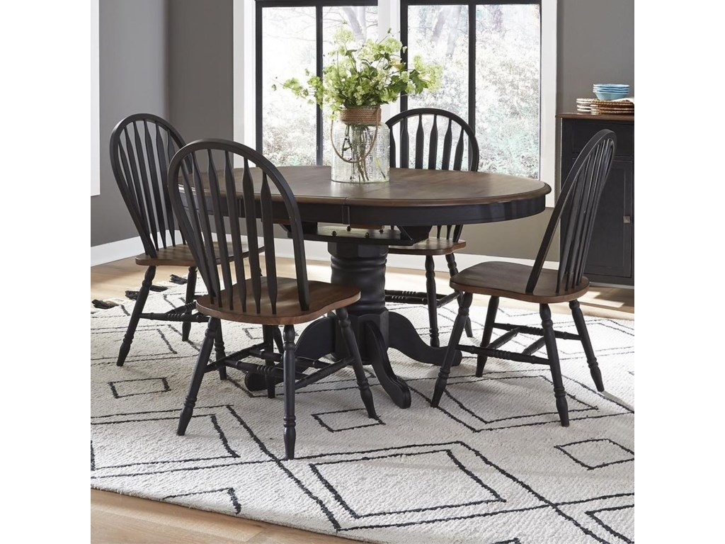 Liberty Furniture Carolina CrossingPedestal Table and Chair Set