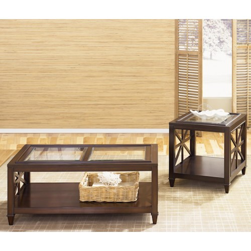 Liberty Furniture Caroline Three-Piece Cocktail Table and Two End Tables Set