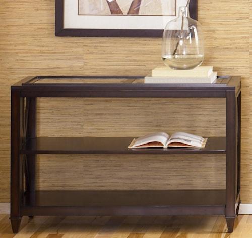 Liberty Furniture Caroline Sofa Table With Glass Top Turk
