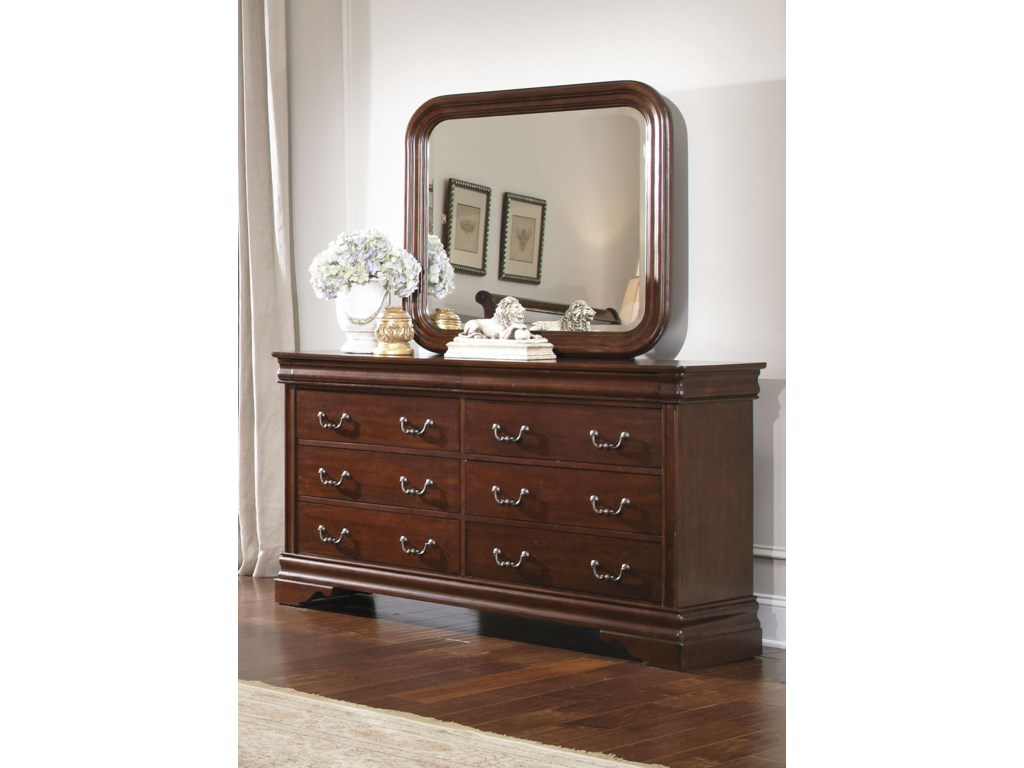 Liberty Furniture Carriage CourtQueen Sleigh Bed, Dresser & Mirror, Chest