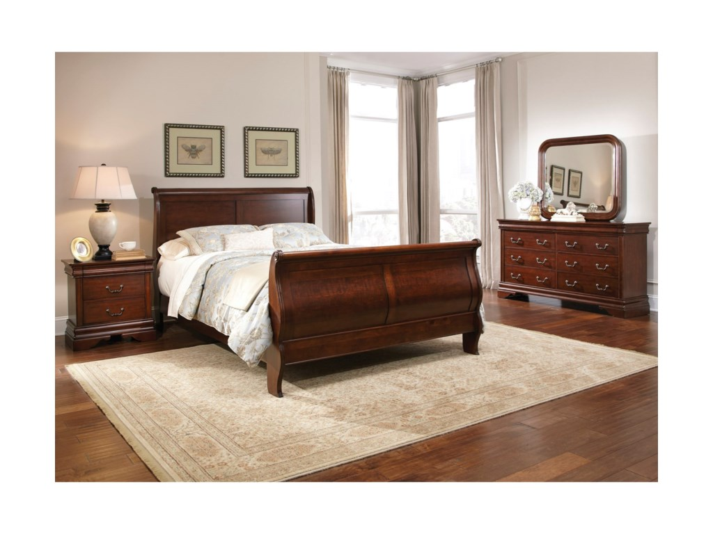 Liberty Furniture Carriage CourtKing Sleigh Bedroom Group