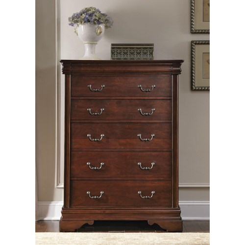 Liberty Furniture Carriage Court 6 Drawer Chest with Hidden Drawer