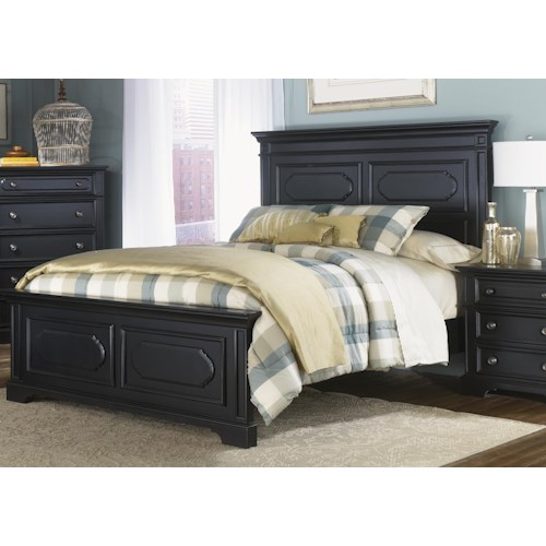 Liberty Furniture Carrington II King Panel Headboard and Footboard