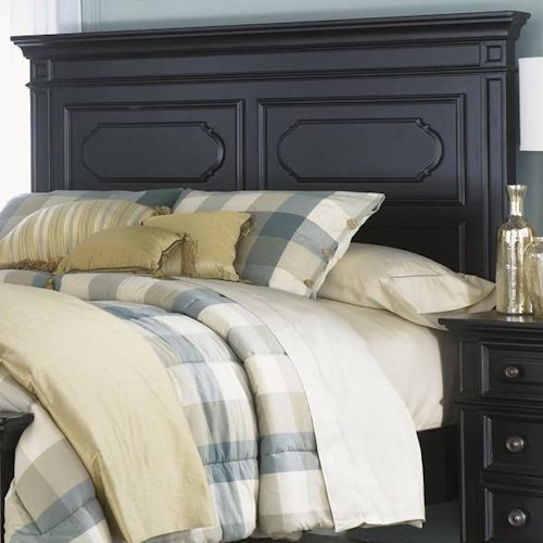 Liberty Furniture Carrington II King Panel Headboard with Raised Panels and Moulding
