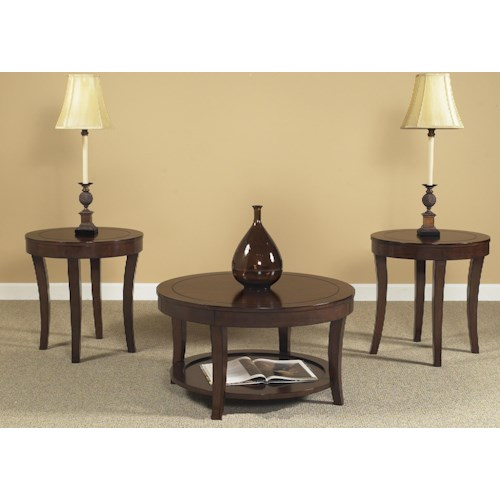 Liberty Furniture Casual Living 168 3 Pack Occasional Tables with Saberd Legs