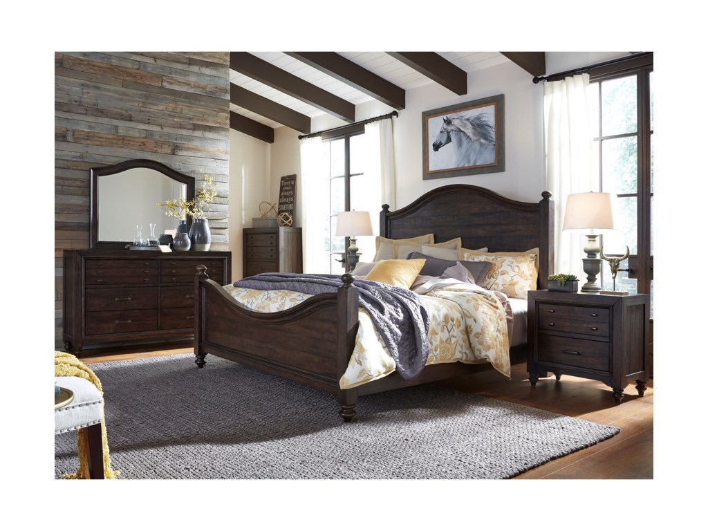 Liberty Furniture Catawba Hills BedroomKing Poster Bed