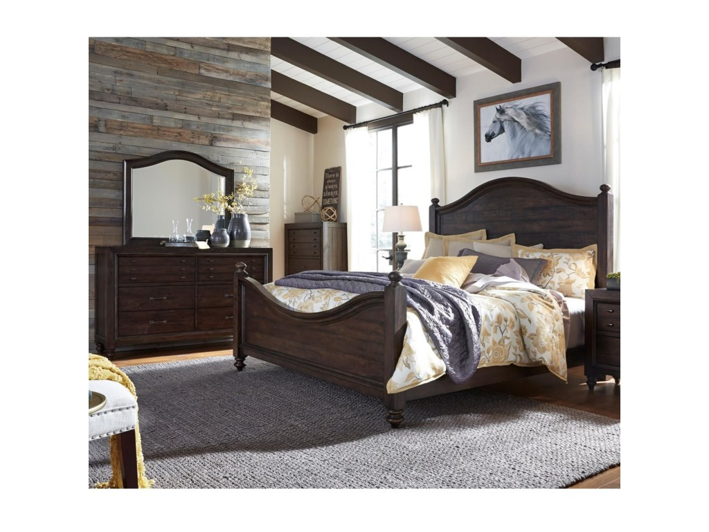 Liberty Furniture Catawba Hills BedroomKing Poster Bed Bedroom Group