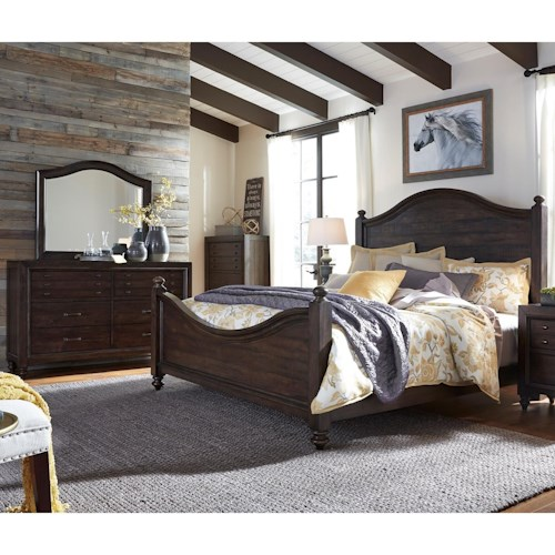 Liberty Furniture Catawba Hills Bedroom King Poster Bed Bedroom Group