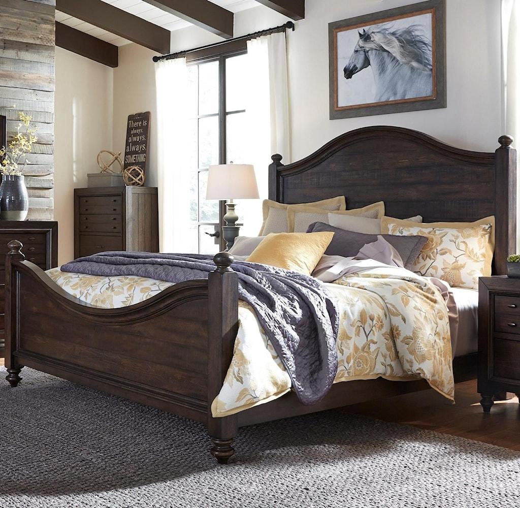 Liberty furniture catawba hills bedroom queen poster bed
