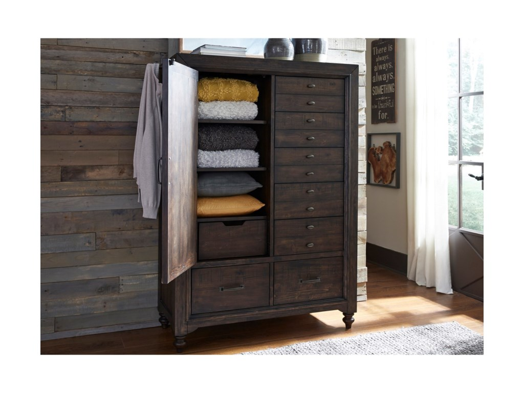 Liberty Furniture Catawba Hills BedroomDoor Chest with 7 Dovetail Drawers