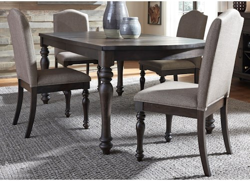 Liberty Furniture Catawba Hills Dining 5 Piece Table with Leaf & Chair Set