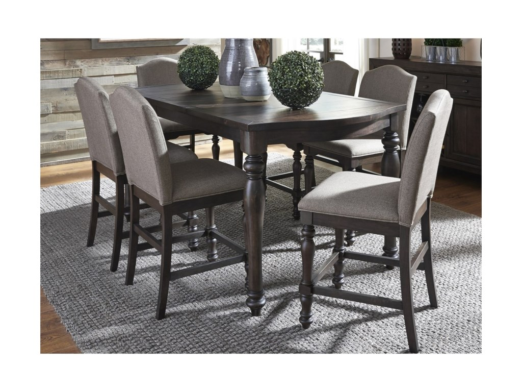 Liberty Furniture Catawba Hills Dining7 Piece Gathering Table Set