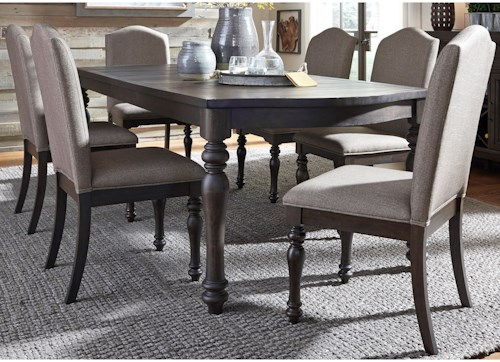 Liberty Furniture Catawba Hills Dining 7 Piece Table with Leaf & Chair Set
