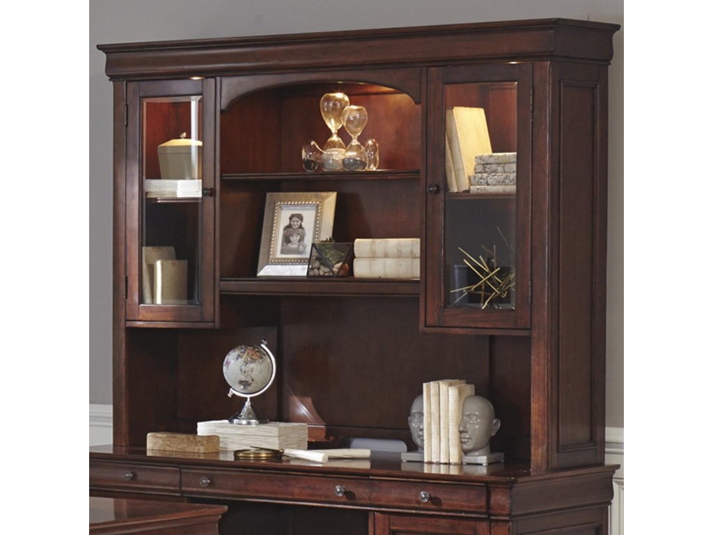 Liberty Furniture Chateau ValleyJr Executive Credenza Hutch