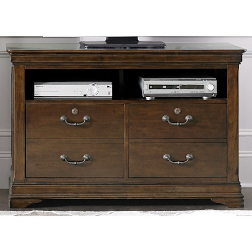 Liberty Furniture Chateau Valley Traditional Media File Cabinet with Locking Drawers