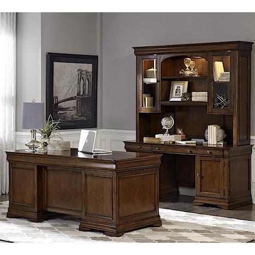 Liberty Furniture Chateau Valley 5 Piece Jr Executive Set
