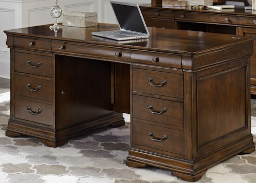 Liberty Furniture Chateau Valley Tradtional Jr Executive Desk