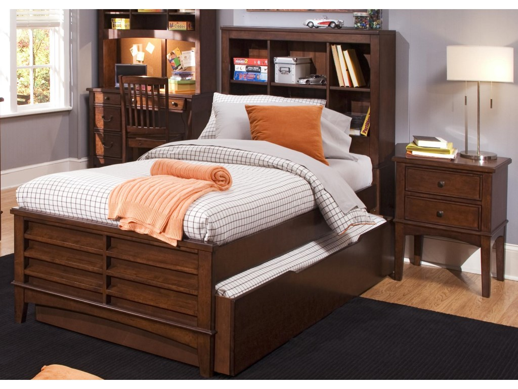 Shown with Student Desk with Hutch, Desk Chair, and Bookcase Bed