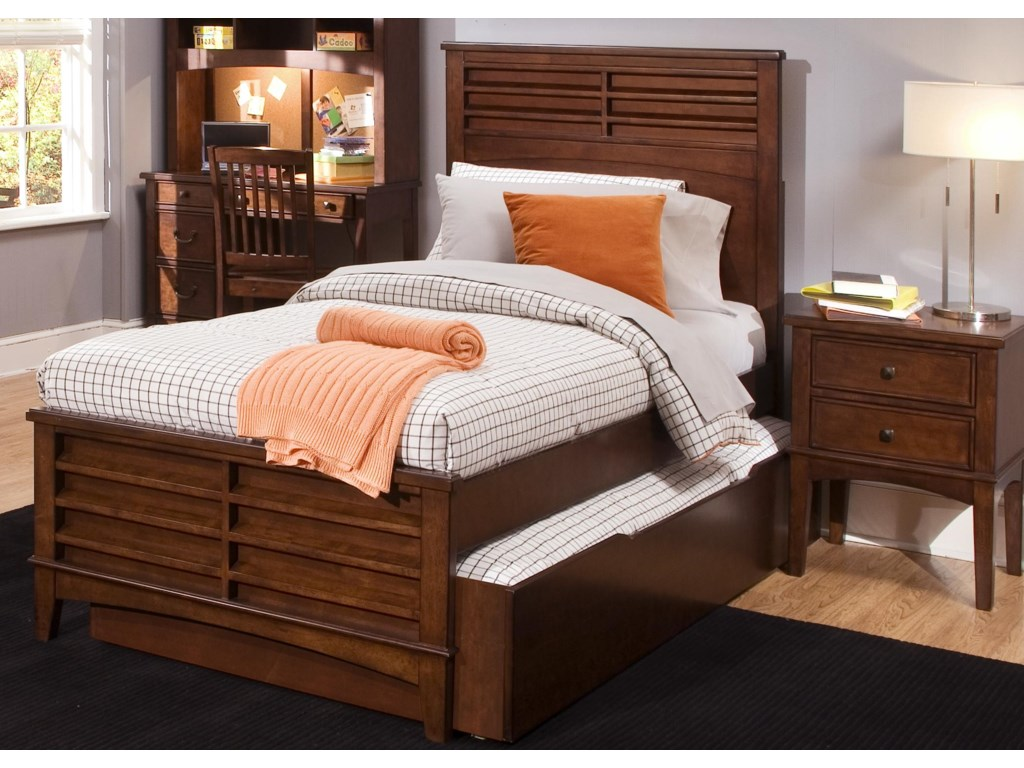 Shown with Optional Coordinating Hutch, Panel Bed, and Nightstand