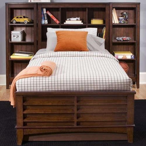 Liberty Furniture Chelsea Square Youth 14 Shelf Full Pier Bed