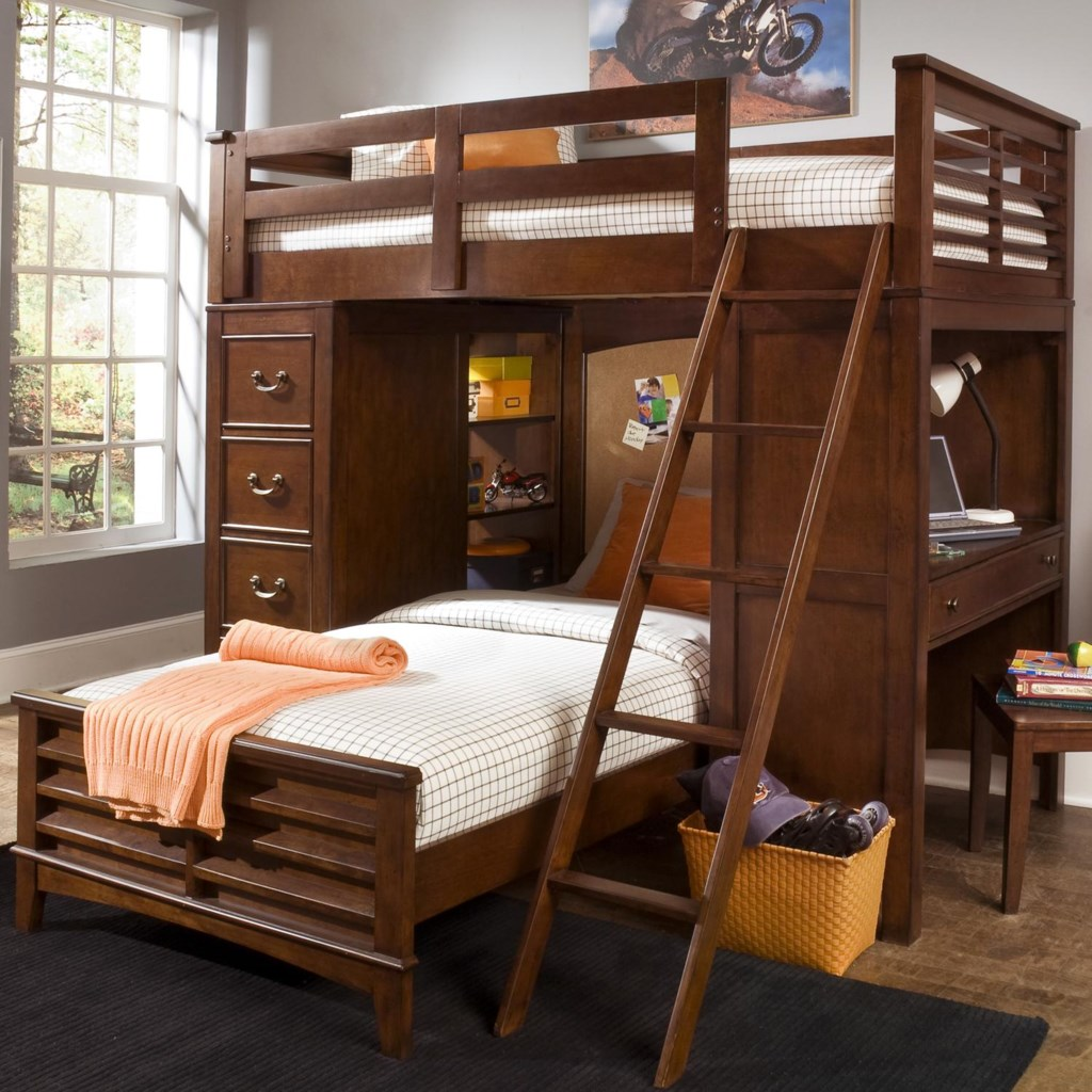 Liberty Furniture Chelsea Square Youth Twin Loft Bed Unit With Built