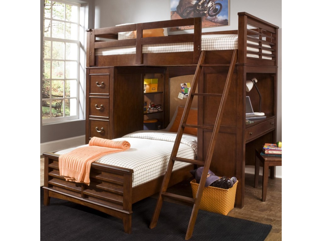 Twin Loft Bed.Chelsea Square Youth Twin Loft Bed Unit With Built In Desk And Chest By Liberty Furniture At Royal Furniture