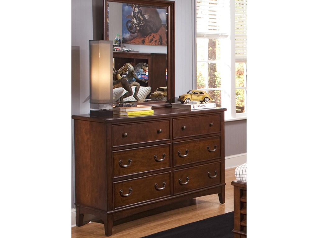 Liberty Furniture Chelsea Square YouthDresser & Mirror Combination