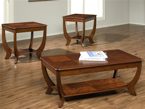 Liberty Furniture Cherryville Contemporary Cocktail and End Table Group