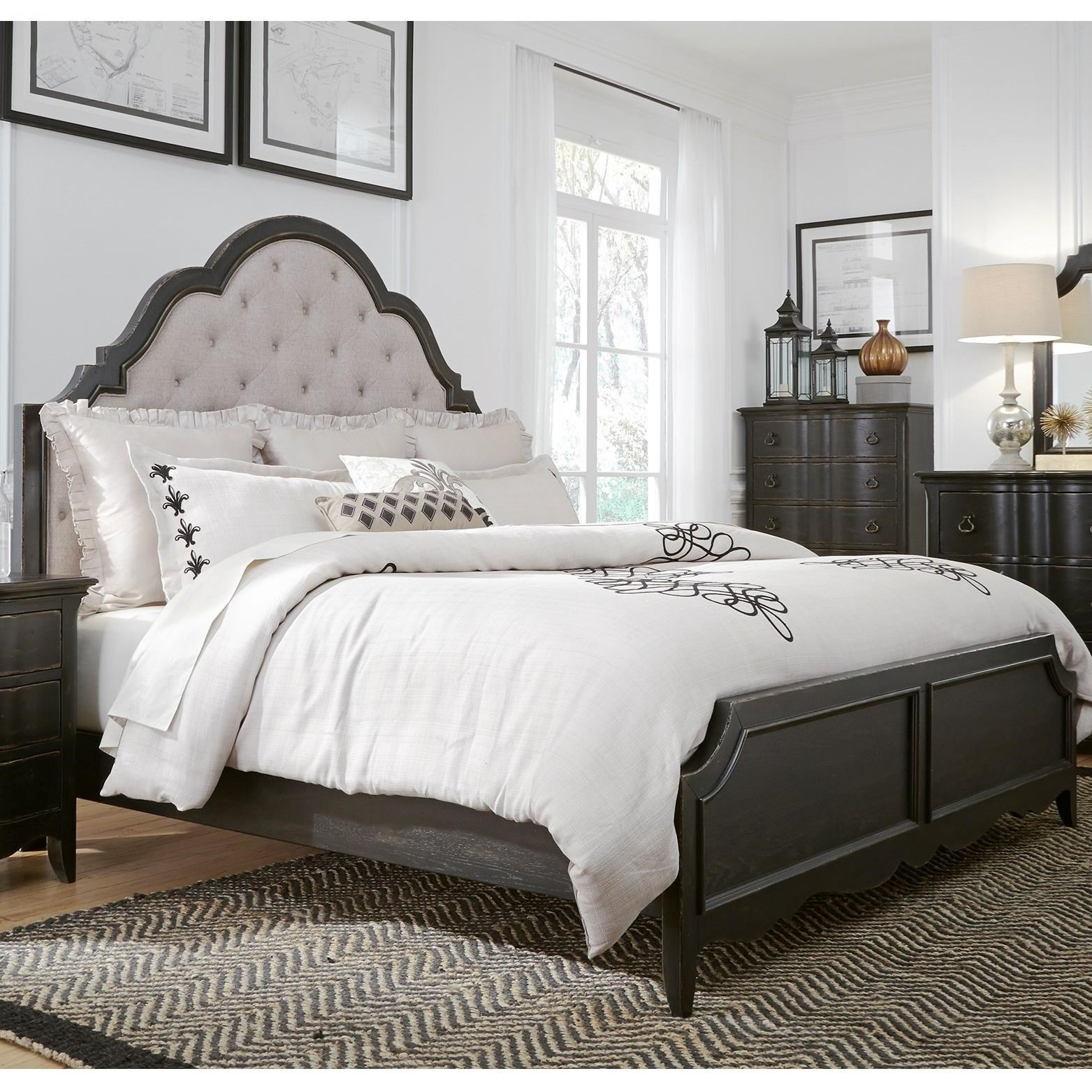 Relaxed Vintage Queen Upholstered Bed