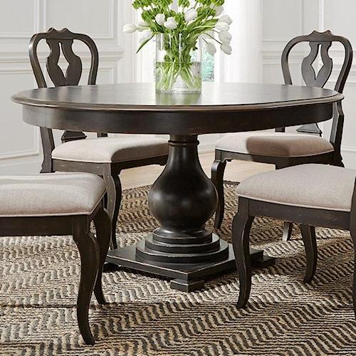 Liberty furniture chesapeake 493 dr pds round pedestal for Furniture 0 percent financing