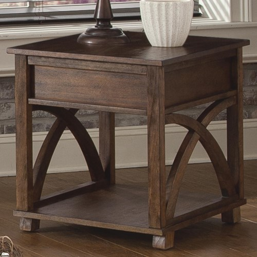 Liberty Furniture Chesapeake Bay Rectangle End Table with Hidden Drawer