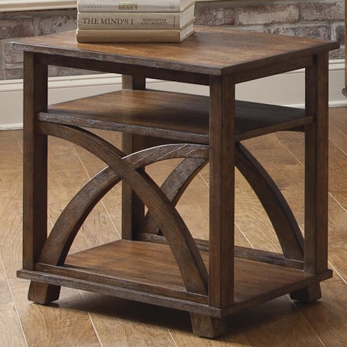 Liberty Furniture Chesapeake Bay Chair Side Table with Two Shelves