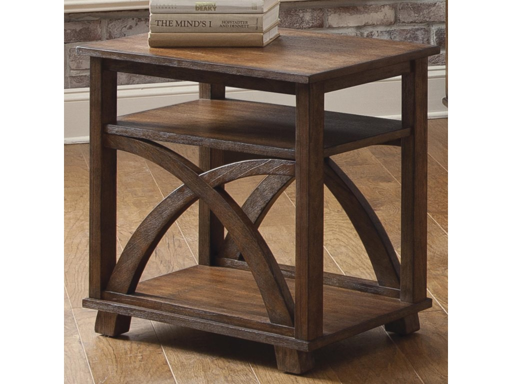 Chesapeake Bay Chair Side Table With Two Shelves By Liberty Furniture