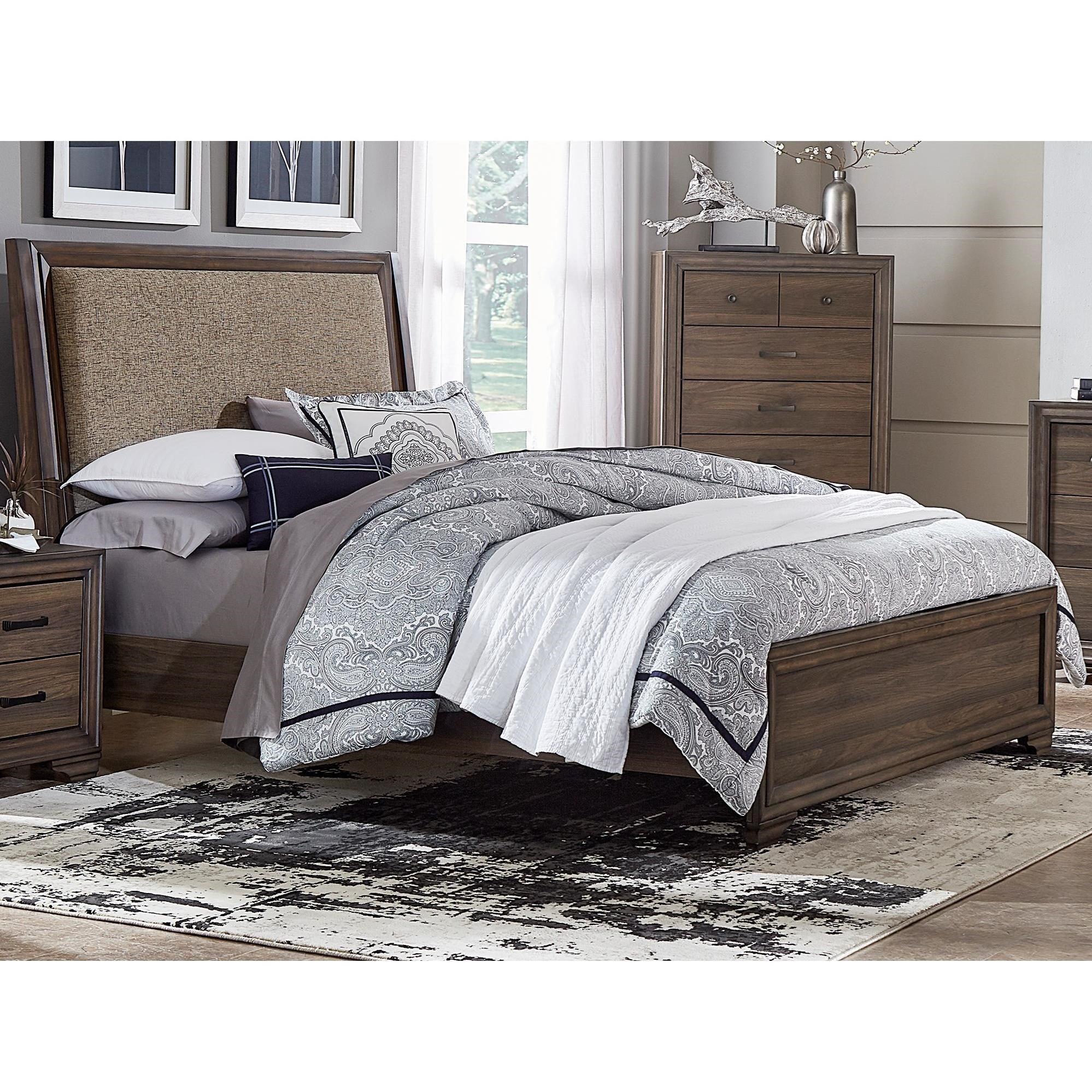 Clarksdale Contemporary King Upholstered Bed By Liberty Furniture