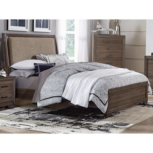 Liberty Furniture Clarksdale Contemporary Twin Upholstered Bed