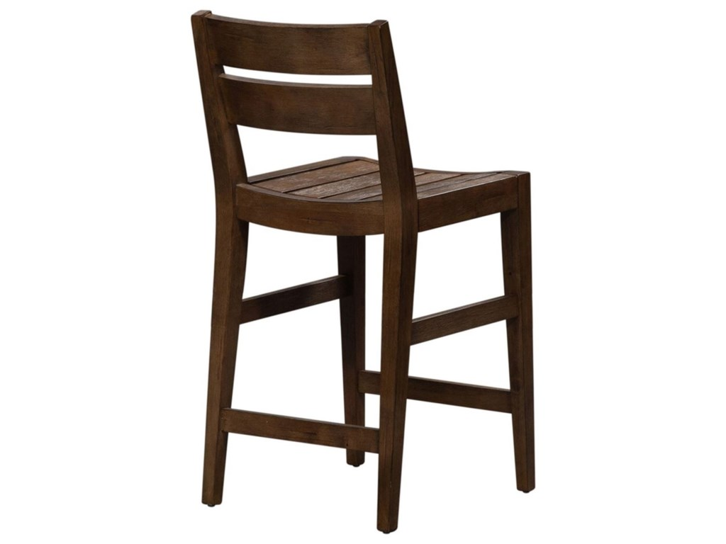 Vendor 5349 Color NookSlat Back Counter Height Chair
