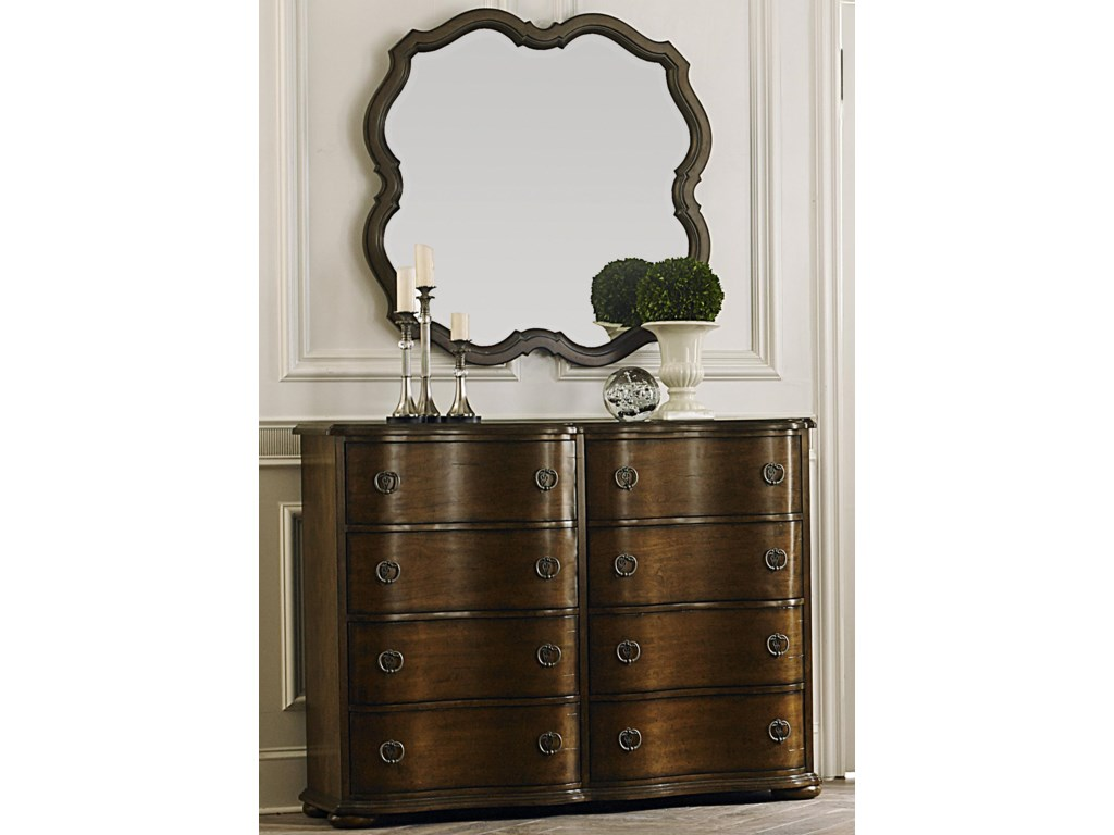 Liberty Furniture Cotswold Bureau and Wall Mirror