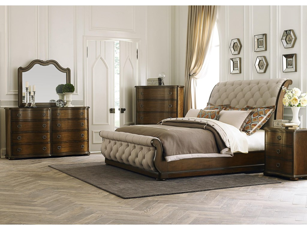 Liberty Furniture Cotswold King Upholstered Sleigh Headboard