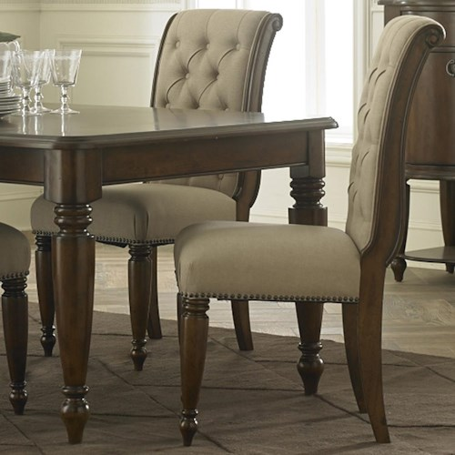 Liberty Furniture Cotswold  Transitional Rolled Top Upholstered Side Chair