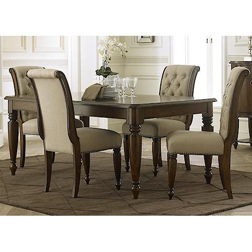 Liberty Furniture Carrington 5 Piece Rectangular Table Set