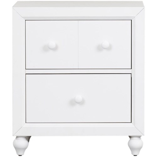 Liberty Furniture Cottage View Cottage Style Nightstand with Bun Feet