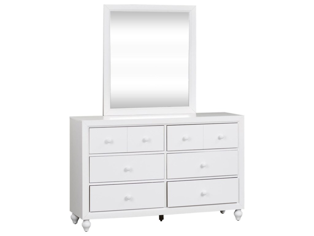 Liberty Furniture Cottage ViewDresser and Mirror