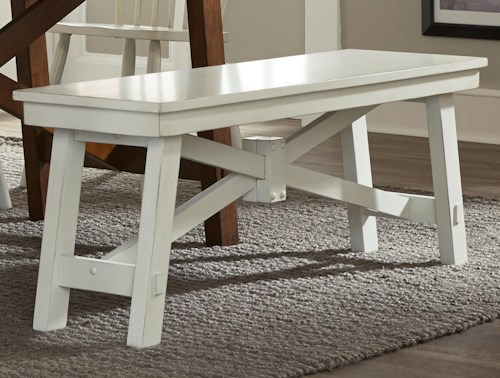 Liberty Furniture 38-CD Wood Trestle Bench
