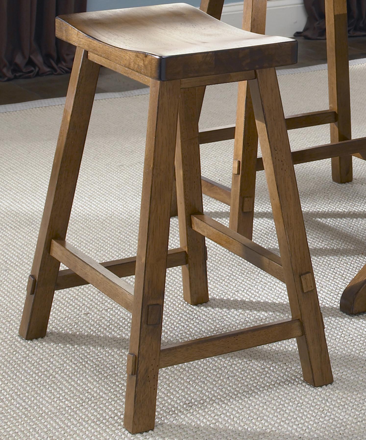 Liberty Furniture Creations II 30 Inch Sawhorse Barstool